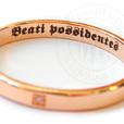 надпись на кольце Beati possidentes