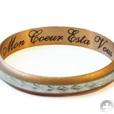 гравировка на кольце: Mon Coeur Est a Vous (франц.) - Ты властительница (властелин) моего сердца