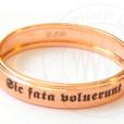 надпись на кольце: Sic fata voluerunt