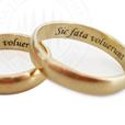 гравировка кольца, надпись на кольце, фразы на латыни, Sic fata voluerunt - Тaк было угодно cудьбе