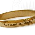 гравировка кольца, надпись на кольце, Te amo mi angel - Я люблю тебя мой ангел