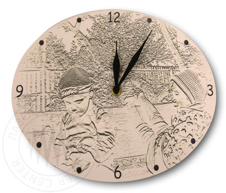 Настольные часы с логотипом на заказ