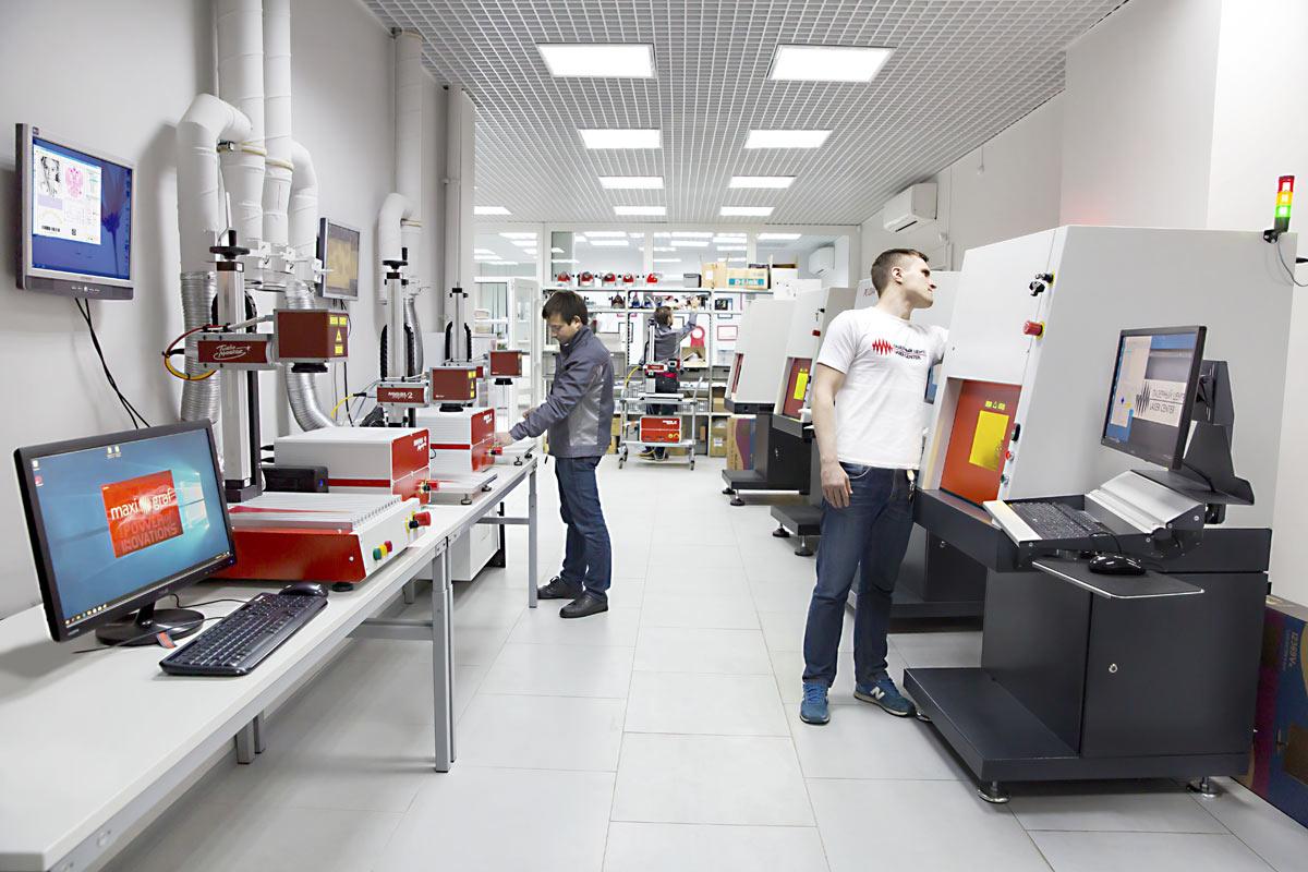 Цех по производству лазерных станков в России.