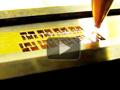 Лазерная резка выводных рамок для электроники на лазерном станке RX.